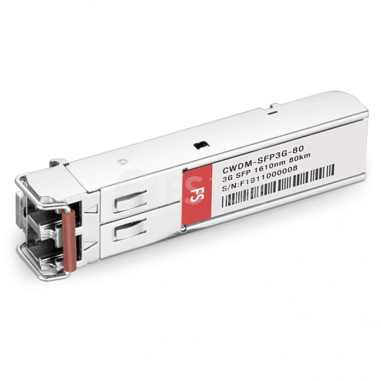 飞速(FS) 3G-SD / HD / 3G-SDI MSA数字视频CWDM SFP光模块1610nm 80km   收发一体 病理式