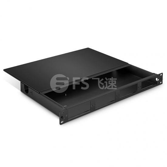 1U 144芯 FHD光纤配线箱,顶盖可拆卸空机箱