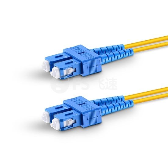 5m SC /UPC-SC /UPC双工单模OS2光纤跳线-2.0mm PVC(OFNR)
