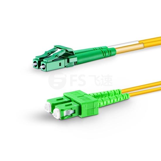2m LC/APC-SC/APC双工单模OS2光纤跳线-2.0mm PVC(OFNR)