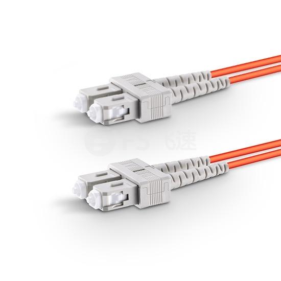 1m SC/UPC-SC/UPC双工多模OM1光纤跳线-2.0mm PVC(OFNR)