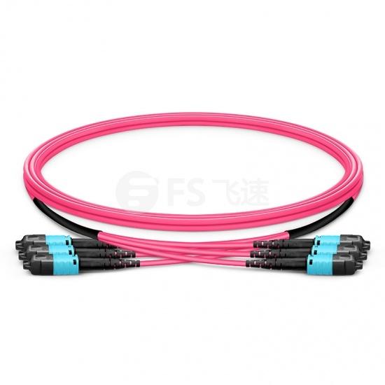 定制8-144芯万兆多模(OM4)MTP® PRO(12芯)主干光纤跳线