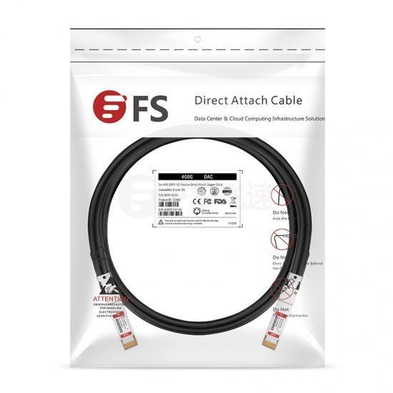 3m 戴尔(Dell)兼容DAC-Q56DD-400G-3M 400G QSFP-DD 无源铜芯高速线缆