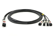 QSFP+ to 4xSFP+ DAC Copper Twinax Cable